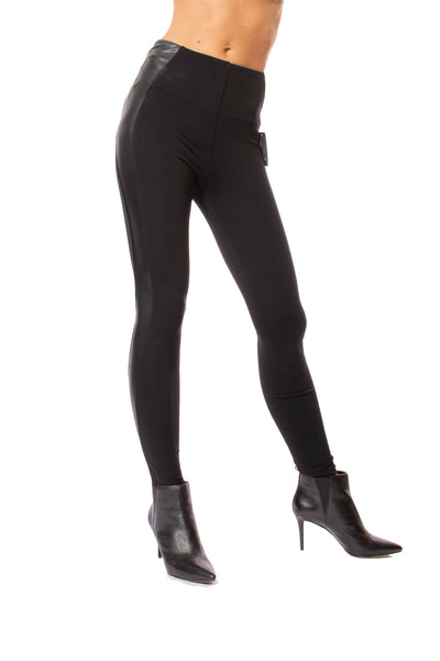 Lysse - Kent Legging W/Side Faux Leather (2309, Black) alt view 6