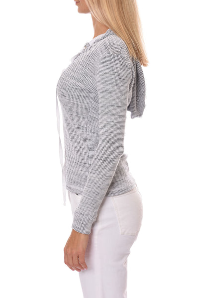 Hard Tail Forever - Chunky Lace Front Hoodie (CHUN-02, Grey & Black Wash) alt view 1