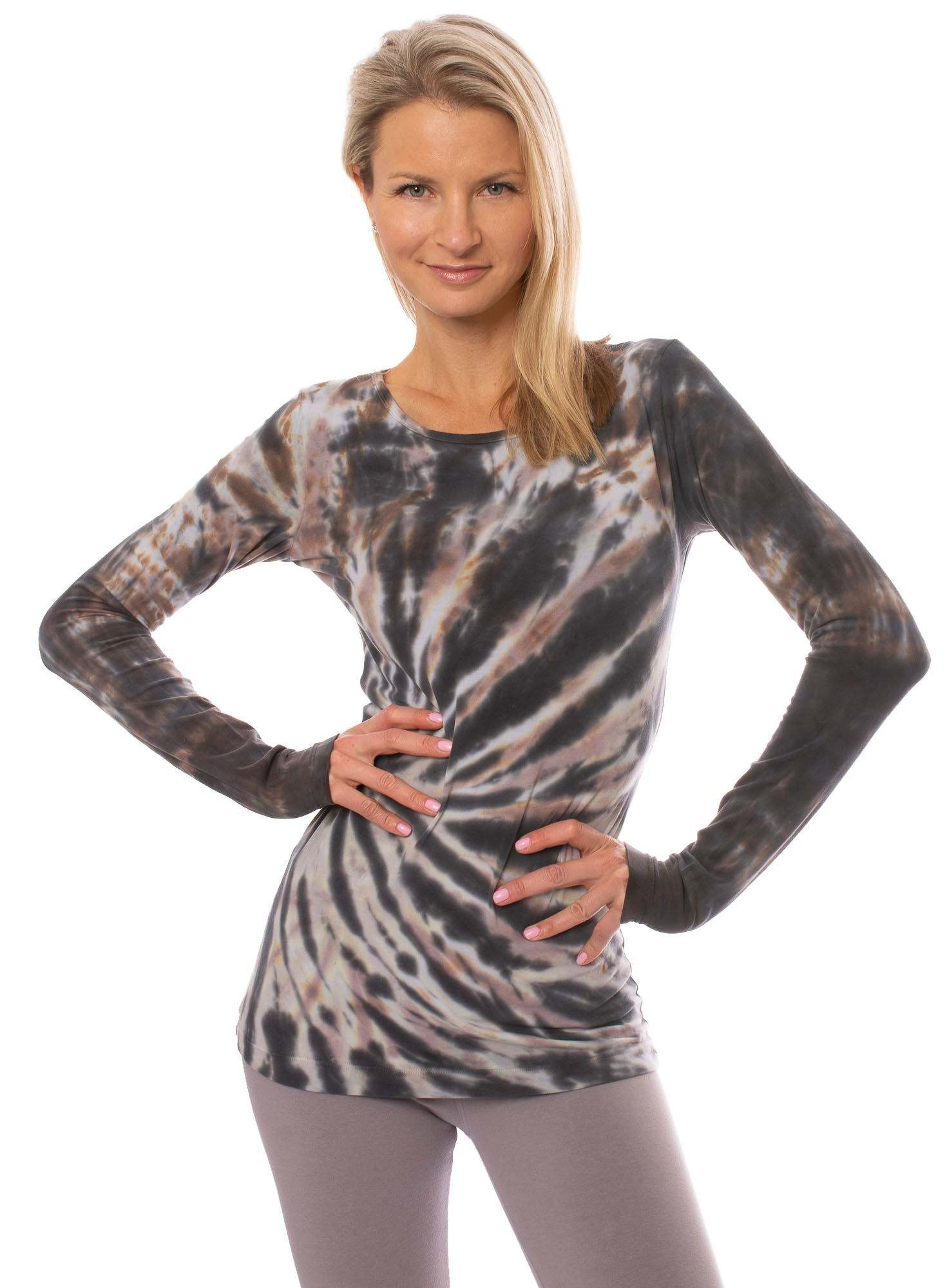 Hard Tail Forever - Supima/Lycra Long Sleeve Scoop Tee (SL-69, Tie-Dye TTS2)