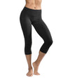Flat Waist Capri (Style W-374, Black) by Hard Tail Forever