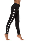 High Rise Ankle Legging w/Stars (Style W-566-505, Black) by Hard Tail Forever