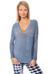 LA Made - Casotr Long Sleeve Top (SM1009-OW, Blue Blossom)