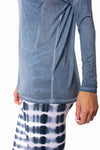 LA Made - Casotr Long Sleeve Top (SM1009-OW, Blue Blossom) alt view 4
