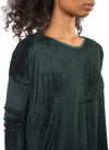 Long Sleeve Float Hem Crew Sleeve (Style PANE-18, Hunter Green) by Hard Tail Forever alt view 3