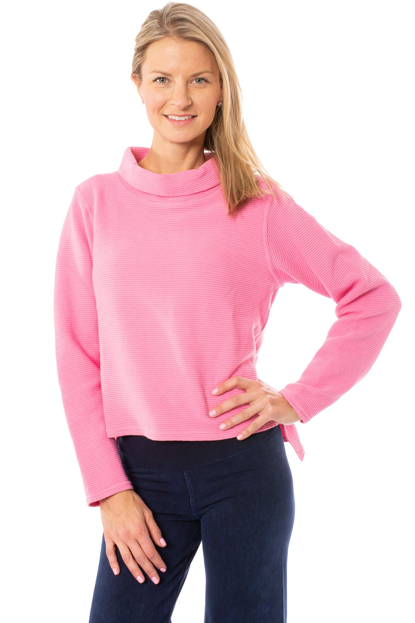 Hard Tail Forever - Cown Neck Pullover (DL-14, Pink)