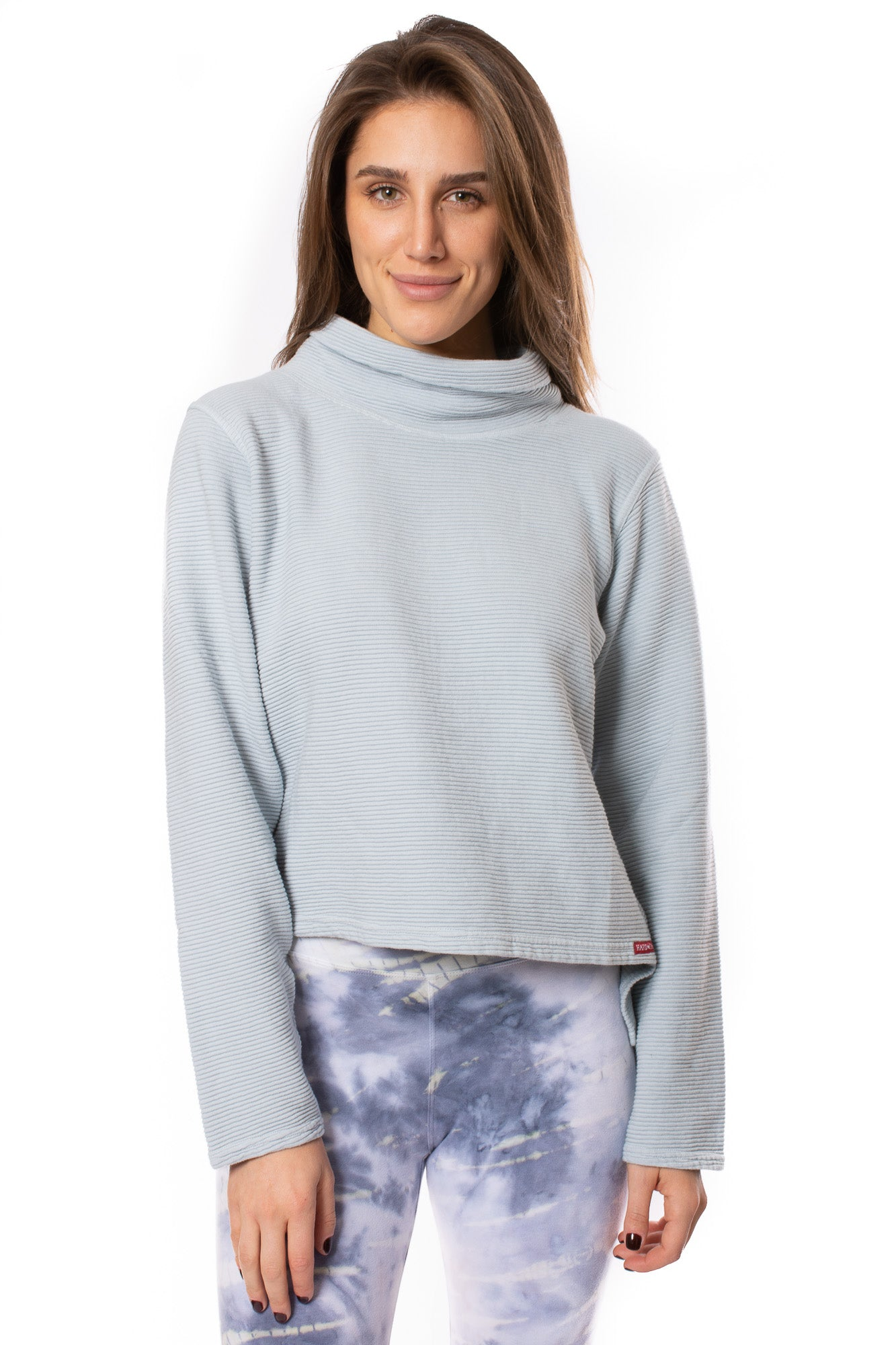 Hard Tail Forever - Cowl Neck Pullover (DL-14, Silver Blue) alt view 1