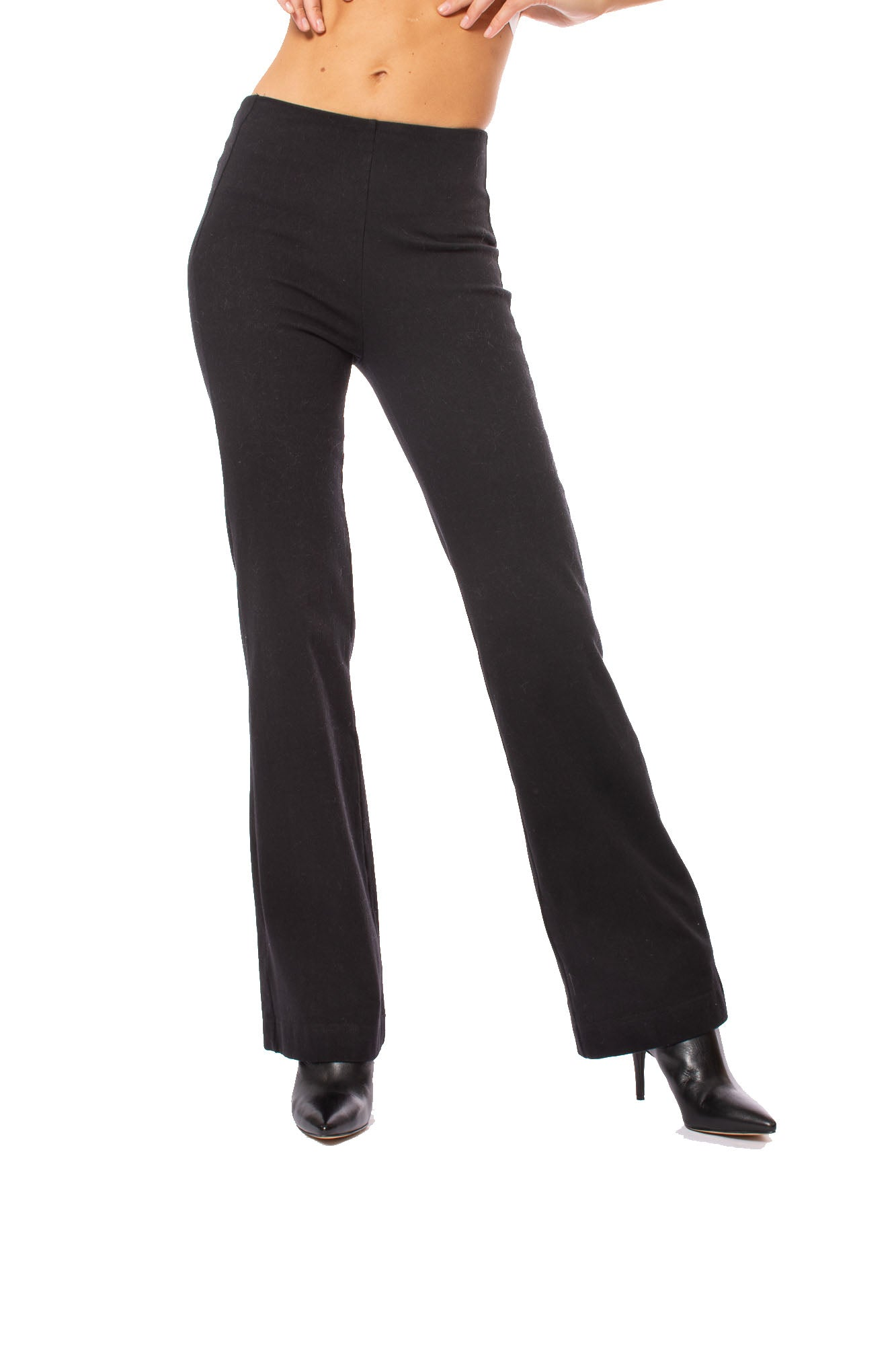 Lysse - Hi Waist Denim Flare Pants (1420, Black)