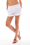 Elan - Drawstring Shorts w/Pockets (LL3042, White)