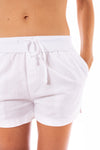 Elan - Drawstring Shorts w/Pockets (LL3042, White) alt view 4