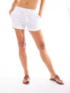 Elan - Drawstring Shorts w/Pockets (LL3042, White) alt view 5