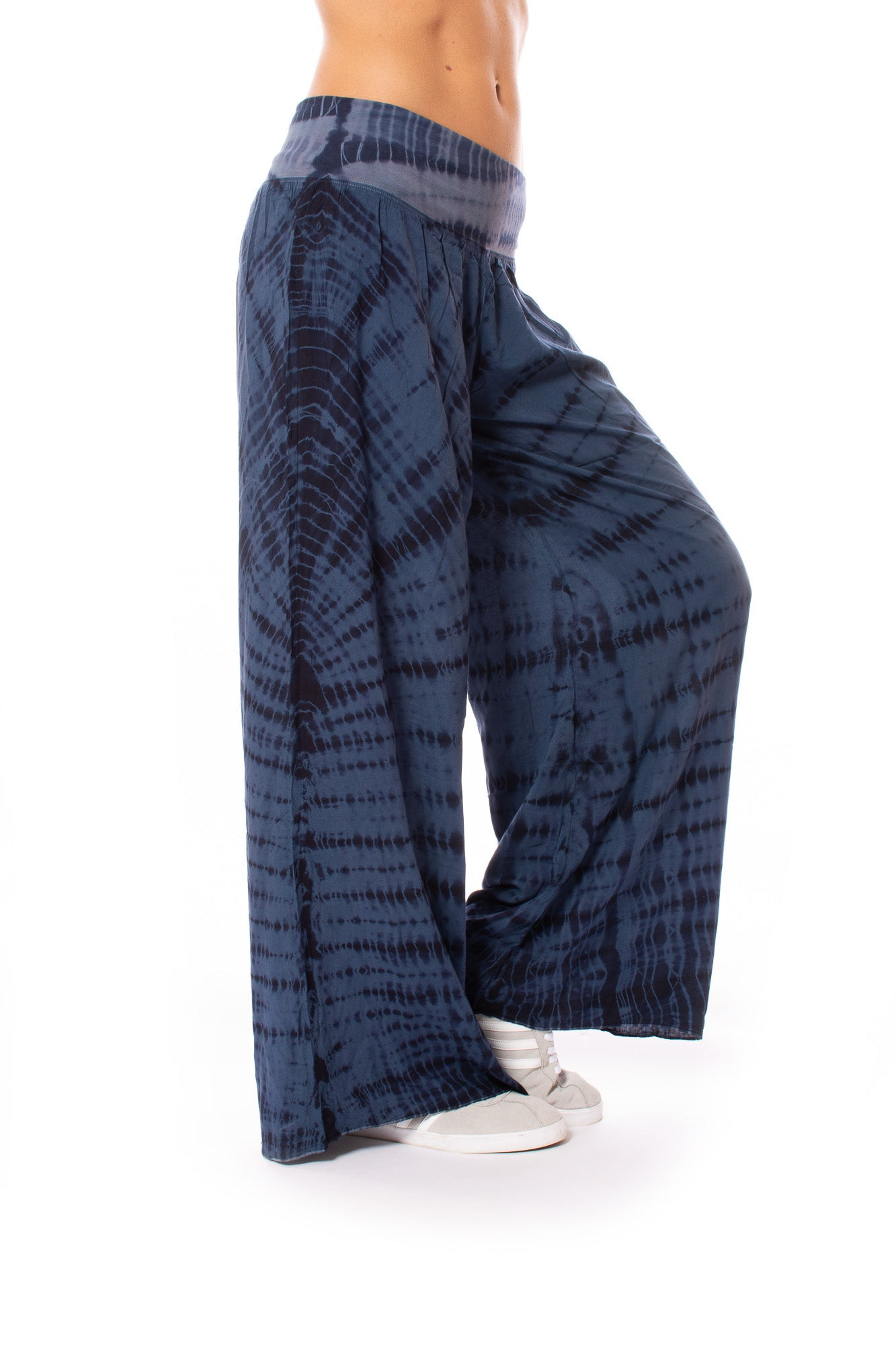 Hard Tail Forever - Rayon Voile Flat Waist Pant (RV-03, Tie-Dye DD2)