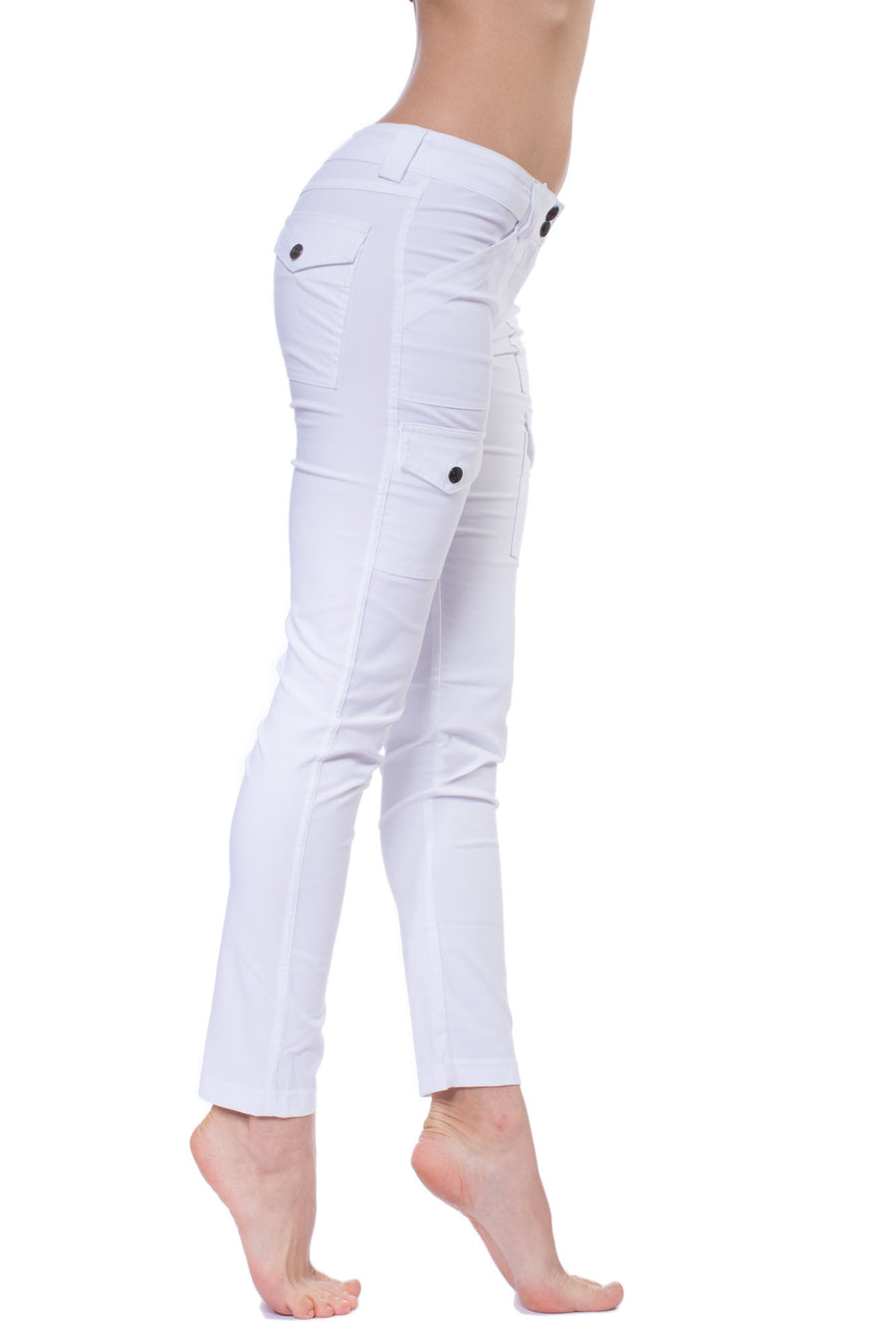 Kate Skinny Cargo Pant (Style ASS411, White) by Anatomie