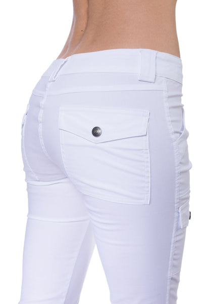 Kate Skinny Cargo Pant (Style ASS411, White) by Anatomie alt view 2