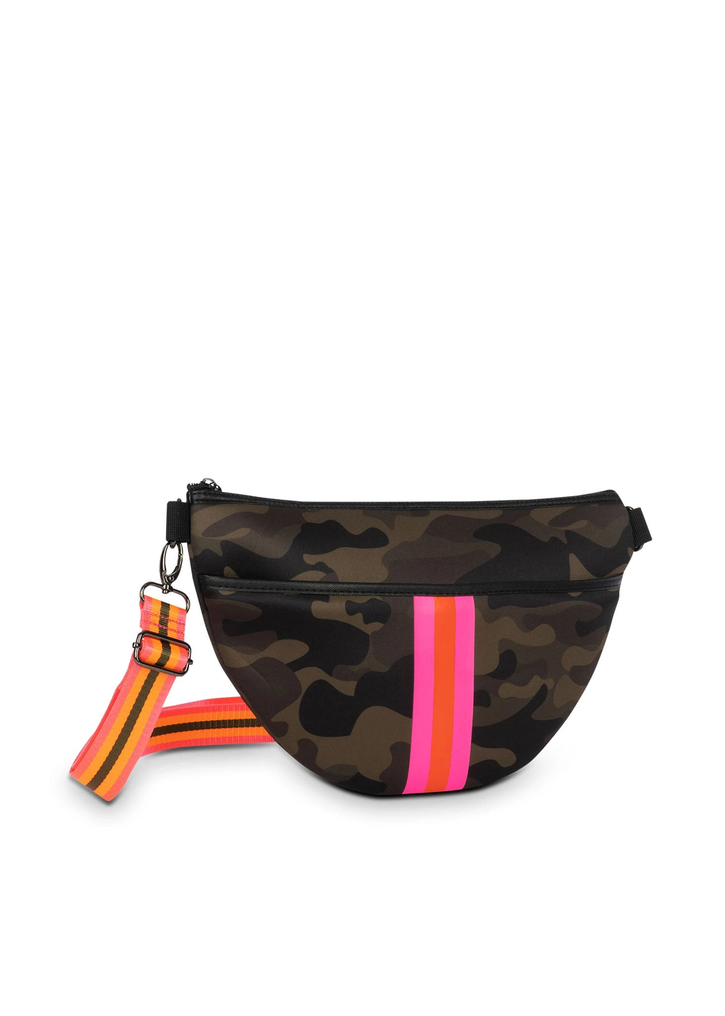 Haute Shore - Brett Showoff Belt Bag (Bret, Green Camo/Pink Orange Stripe)