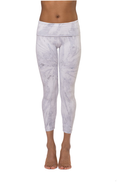 Roll Down Layered Legging (Style 588, Tie-Dye SMA2) by Hard Tail Hard Tail Forever