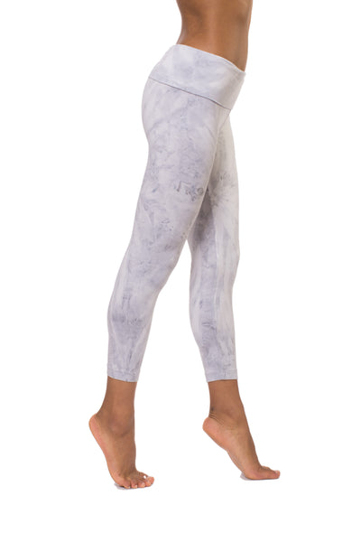 Roll Down Layered Legging (Style 588, Tie-Dye SMA2) by Hard Tail Hard Tail Forever alt view 1