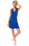 LA Made - Paige Wrap Sleeveless Dress (MOFT3005, Blue)