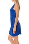 LA Made - Paige Wrap Sleeveless Dress (MOFT3005, Blue) alt view 1