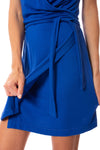 LA Made - Paige Wrap Sleeveless Dress (MOFT3005, Blue) alt view 5