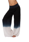 Rayon/Voile Flat Waist Wide Leg Pant (Style RV-03, Tie-Dye OMW3) by Hard Tail Forever