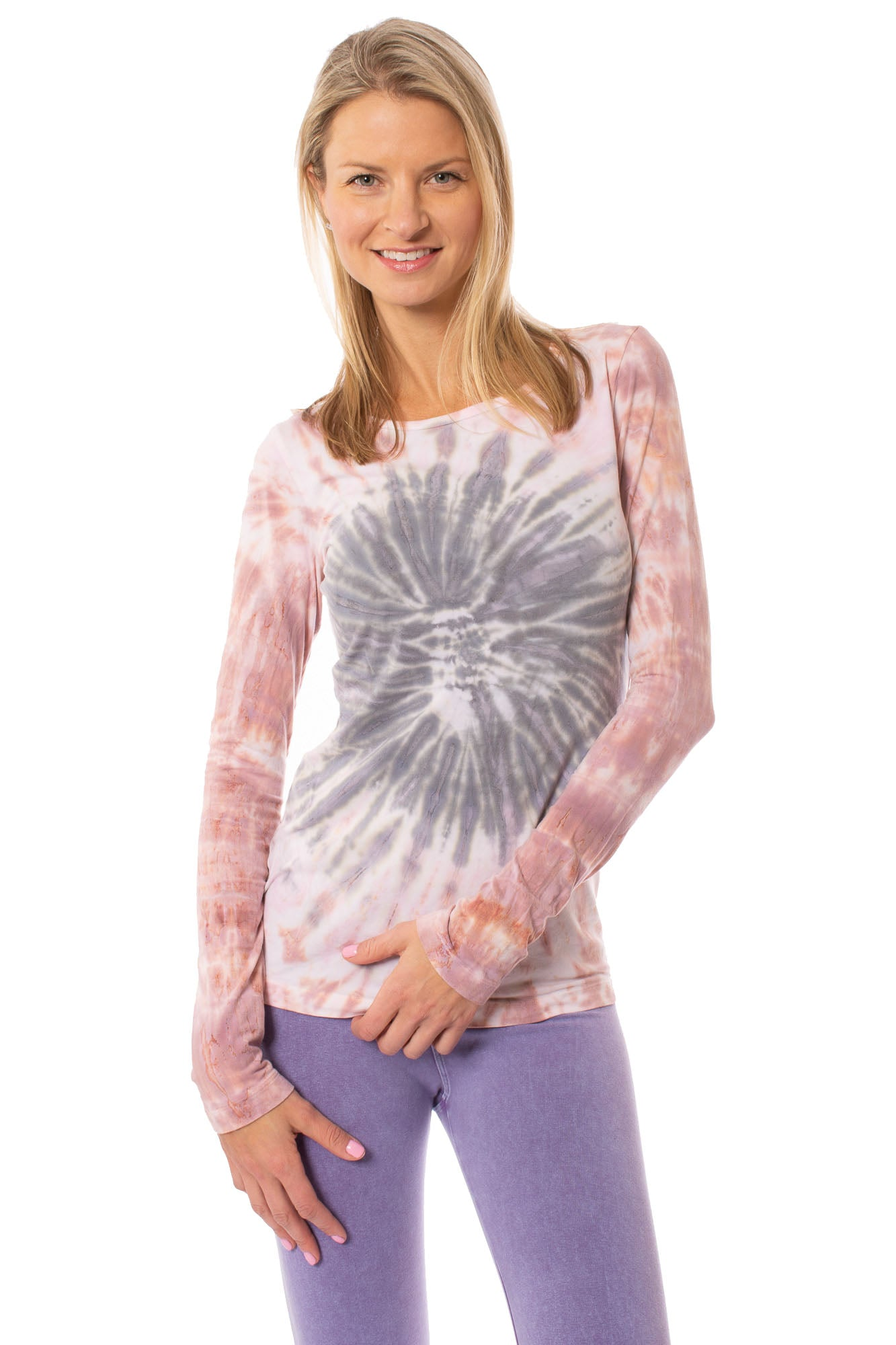 Hard Tail Forever - Supima/Lycra Long Sleeve Scoop Tee (SL-69, Tie-Dye TCS1)