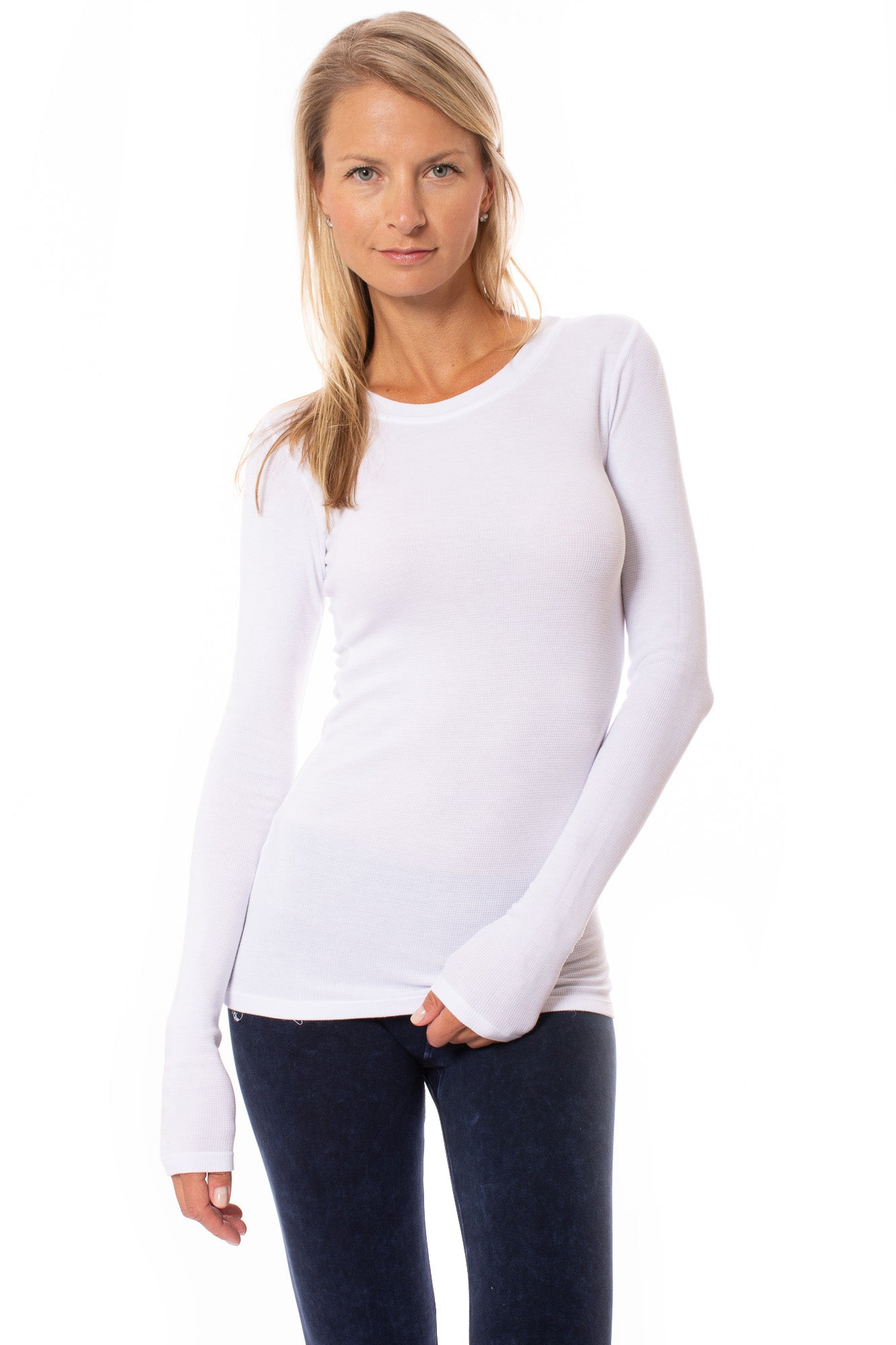 LA Made - Long Sleeve Thermal T (TH-100, White)