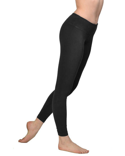 Flat Waist Ankle Legging (Style W-452, Black) by Hard Tail Forever