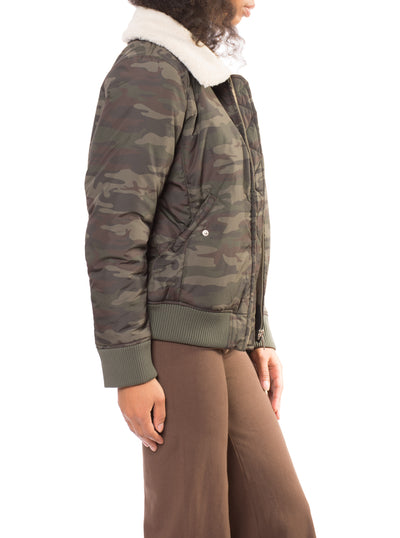 You Are Perfect Jacket (Style J0375-W3404, Olive Camo) by Sanctuary alt view 1