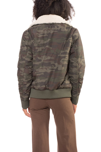 You Are Perfect Jacket (Style J0375-W3404, Olive Camo) by Sanctuary alt view 2