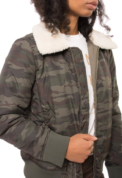 You Are Perfect Jacket (Style J0375-W3404, Olive Camo) by Sanctuary alt view 3