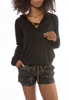 Girly Pullover (Style TRI-16, Black) by Hard Tail Forever