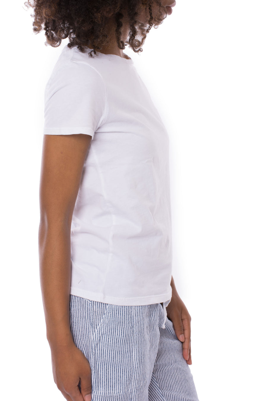 Classic Crew Neck (Style BO1001Y, White) by Thee Dots