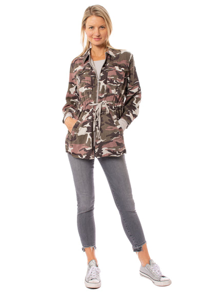 Hard Tail Forever - Six Pocket Draw String Zip Camo Jacket (BURG-12, Concrete Camo) alt view 9