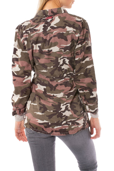 Hard Tail Forever - Six Pocket Draw String Zip Camo Jacket (BURG-12, Concrete Camo) alt view 2