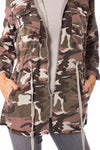 Hard Tail Forever - Six Pocket Draw String Zip Camo Jacket (BURG-12, Concrete Camo) alt view 6