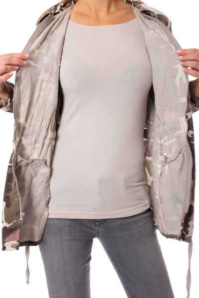 Hard Tail Forever - Six Pocket Draw String Zip Camo Jacket (BURG-12, Concrete Camo) alt view 7