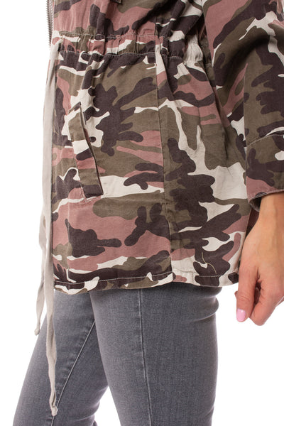 Hard Tail Forever - Six Pocket Draw String Zip Camo Jacket (BURG-12, Concrete Camo) alt view 8