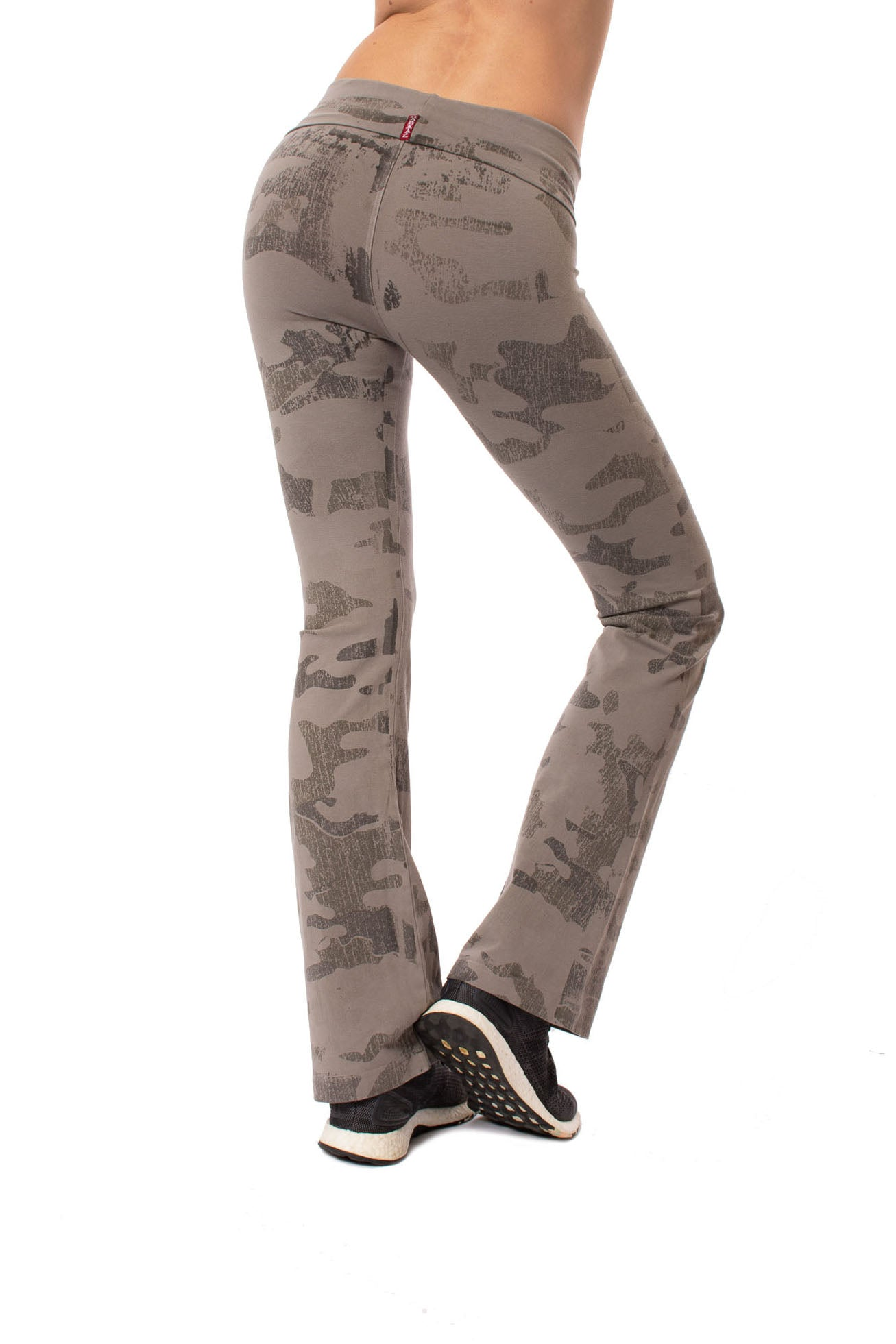 Roll Down Boot Leg Pants (Style 330, Camo Gravel) by Hard Tail Forever