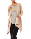 Elan - Open Front Long Sleeve Cardigan (SW1991, Oatmeal)
