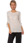 Fifteen Twenty - Ruffle Sleeve (1F15595, Heather Gray)