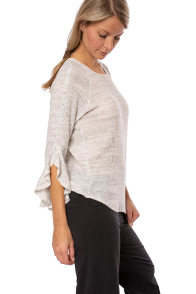 Fifteen Twenty - Ruffle Sleeve (1F15595, Heather Gray) alt view 1