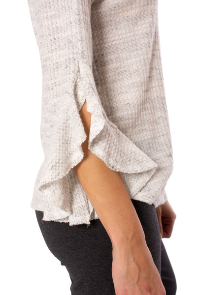 Fifteen Twenty - Ruffle Sleeve (1F15595, Heather Gray) alt view 3