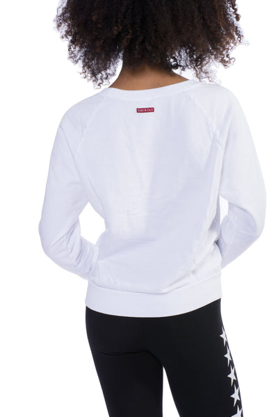Kangaroo Long Sleeve Star Sweatshirt (Style SMF-01, White) by Hard Tail Hard Tail Forever alt view 1