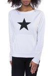 Kangaroo Long Sleeve Star Sweatshirt (Style SMF-01, White) by Hard Tail Hard Tail Forever