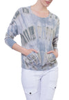 Long Sleeve Sweatshirt (Style SMF-01, Tie-Dye DAL1) by Hard Tail Forever