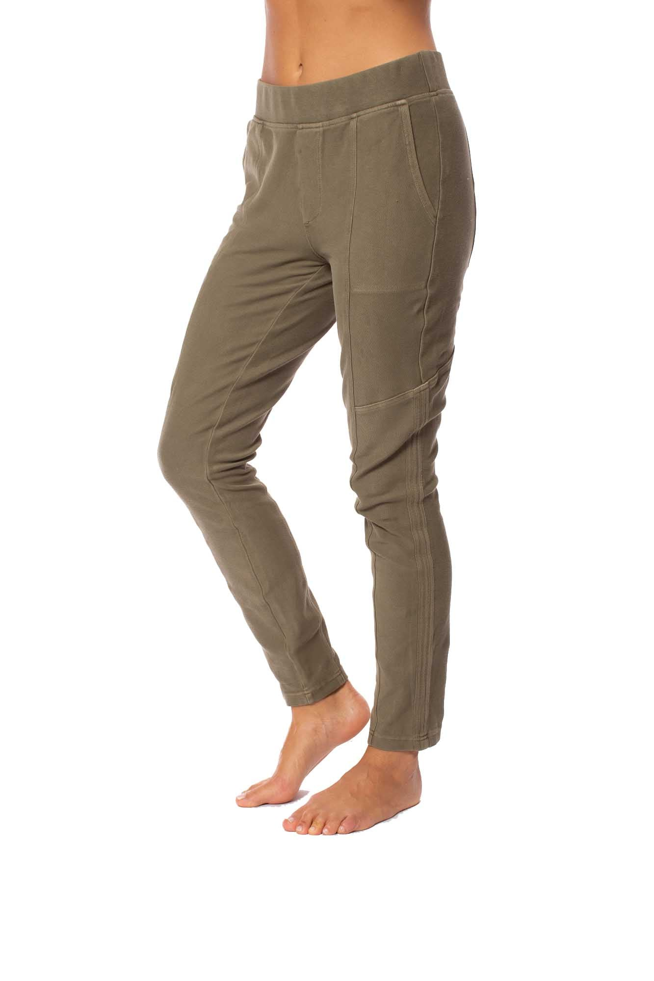 XCVI - Pull On Elastic Band Two Pocket Sullivan Pants (22456, Fatigues)