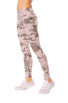 Hard Tail Forever - High Rise Ankle Legging (W-566, Rose Camo)
