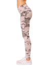 Hard Tail Forever - High Rise Ankle Legging (W-566, Rose Camo) alt view 1