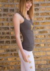 Rayon Ribbed Tank (Style RR-19, Owl / Gold Stars) by Hard Tail Forever alt view 1