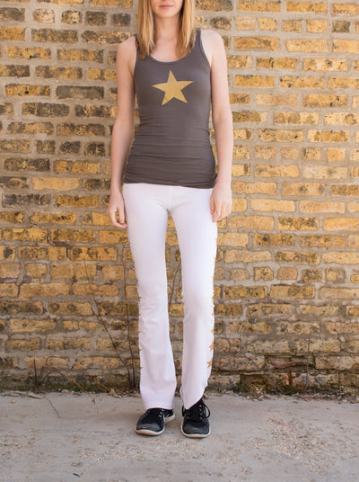Rayon Ribbed Tank (Style RR-19, Owl / Gold Stars) by Hard Tail Forever alt view 4